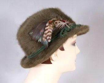 Vintage 1960s Austria Spitzehut Real Merino Wool Hat Fedora Trilby