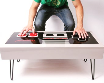 8-bit Retro Gaming Controller Coffee Table - FUNCTIONAL