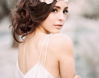 Silk Floral Lace Vine Bridal Headband #225HB