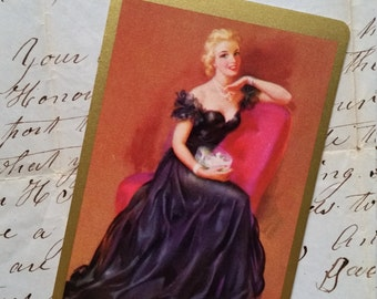 5 Vintage Glamorous Blonde Pin Up Playing Cards