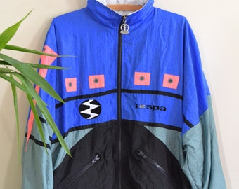 Vintage Deadstock IXSPA 2000 Windbreaker, 1990s Unisex Athletic Jacket, New With Tags