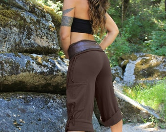 Yoga Cargo Pants-women's pants-loose fit pants-yoga pants-yoga clothing-brown pants-womens cargo pants-workout pants-festival pants-aurora