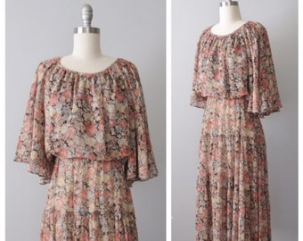 70s floral dress size small