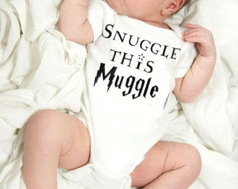 Snuggle This Muggle / Harry Potter Inspired Baby Onesie / Baby Shower Gift / Harry Potter Baby Gift / Harry Potter Onesie