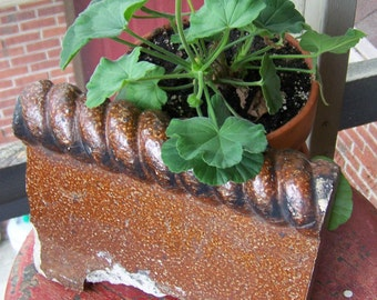 Vintage Architectural Salvage.Decorative Garden Edging.Vintage Salvaged  Ornamental Brick.Vintage Garden Decor