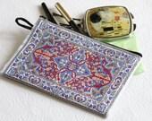 Fabric coin purse, Ethnic purse, Boho coin purse, Women's wallet, Zipper coin purse, Jewelry purse wallet, Moneybag