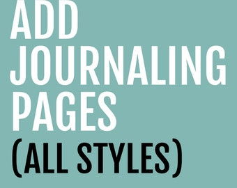 Add Journaling Pages to Any Memory Book // Lined Pages