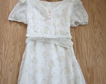 SALE//Vintage 1970's Floral Dress/  Vintage70's Bohemian Dream Dress /  Vintage Boho Wedding Dress