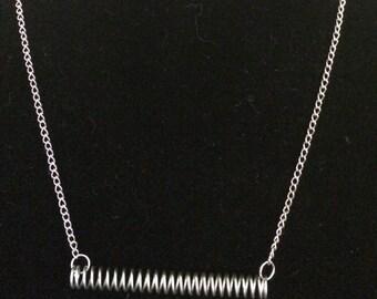 Modern repurposed metal necklace
