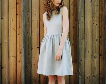 Light Grey Jersey Dress - Jersey Dress - Women Dress - Sleeveless Dress - Jersey Women Dress - Handmade by OFFON