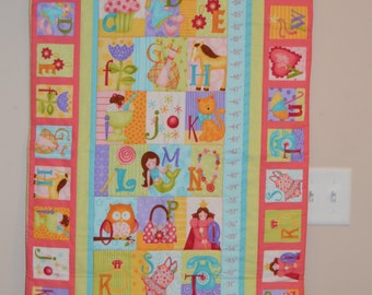 Little Girl Growth Chart Wall Hanging