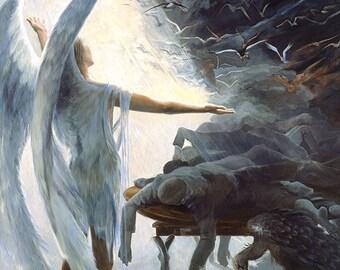 The Angel, oil on canvas Giclée print