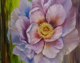 Poppy 12 x 12 inch deep box Canvas Oil Painting