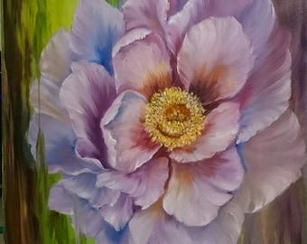 Poppy 12 x 12 inch deep box Canvas Oil Painting