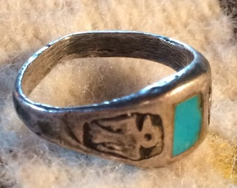 Vintage Native American Thunderbird Ring