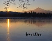 Photography Poster-Breathe Poster-Photo Poster-Landscape Poster-Mountain Poster-Lake Poster-College Dorm Decor-Fine Art Print