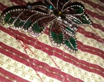 Butterfly Glass Enameled Pin/Brooch