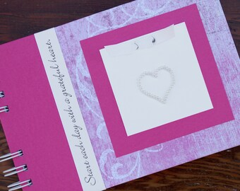 Gratitude Journal | Thankful Journal | Daily Blessings Book | Start Each Day with a Grateful Heart | Pink Flourish
