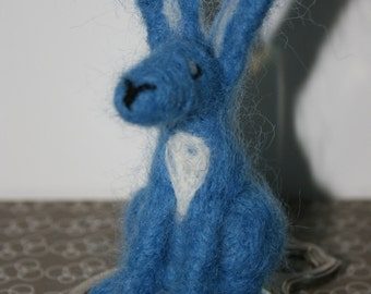Blue Needle Felted Hare