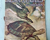 Beautiful Vintage 1919 Aesop's Fables for Children, Milo Winter Illustrations, Rare