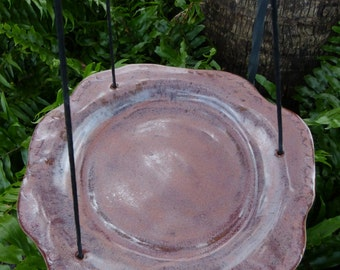 Hanging Ceramic Bird Feeder / Bird Bath