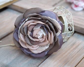Rose Hair Clip,Pastel Hair Accessory, Bridesmaid Flower Brooch, Silk Flower Pin, Pastel Hair Flower, Satin Flower Hair Clip