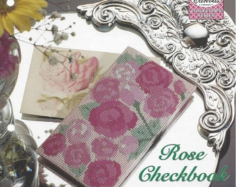 Rose Checkbook Cover Plastic Canvas Pattern, Accessories - The Needlecraft Shop