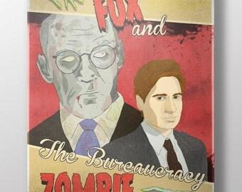 Fox & The Bureaucracy Zombie Fine Art Print