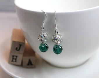 Wedding/Bridal/Bridesmaid Swarovski crystal earrings