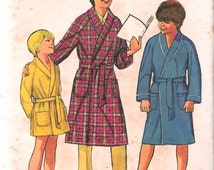 """Vintage 1971 Simplicity 9635 Boy's Robe in Two Lengths Sewing Pattern Size 14 Chest 32"""" UNCUT"""