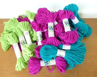 35 skeins Waverly Wool Colors needlepoint wool yarn, 8 yards each
