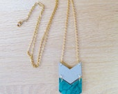 RESERVED // Leather Chevron Necklace