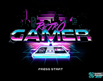 Retro Gamer 80's old school nintendo inspired video game poster - signed museum quality giclée fine art print