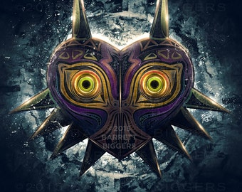 Legend of Zelda Majora's Mask Epic Game Poster - signed museum quality giclée fine art print