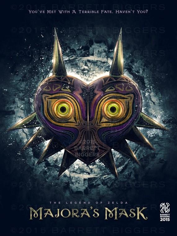 legend of zelda majora s mask epic game poster signed