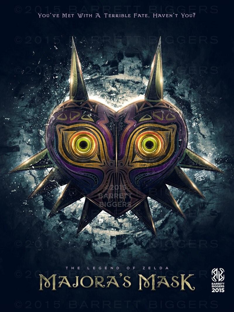 legend of zelda majoras mask epic game poster signed