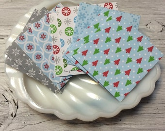 Mini envelopes christmas theme pack of 10 self sealing with cards