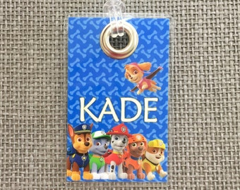 Paw Patrol Backpack Tag, Luggage Tag, Diaper Bag & More!