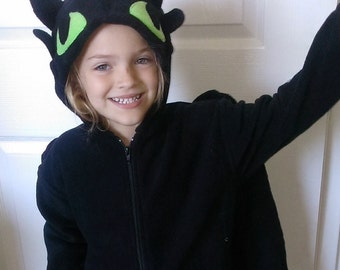 Toothless the dragon Jacket 3-6m up to 6-7 yr