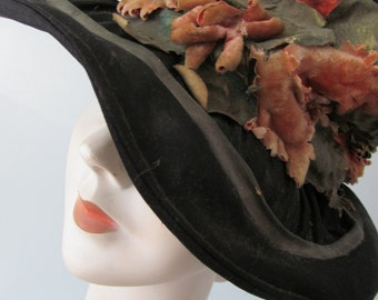 Victorian Shabby Chic Cloche Hat