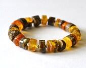 Amber Bracelet Gold Amber Jewelry, Women Amber Bracelet, gemstone gift, Summer time