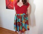 Tiki Hawaiian Dress - Rockabilly - Pinup - Women's - Size M/L - One of A Kind