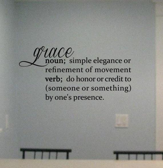 Grace Definition Vinyl Wall Art