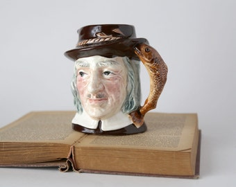 Vintage Izaak Walton Mug, Royal Carlton A. Tamchin, 8070 Toby Jug Mug, Character Mug