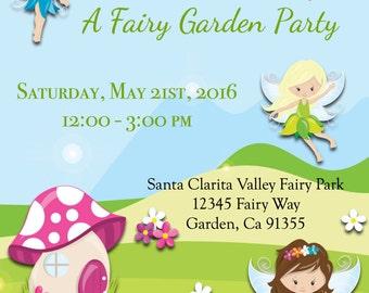 A Fairy Garden Party Invite, A Fairy Invite, A Garden Fairy Party Invite