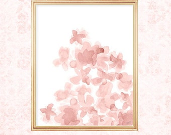 Blush Flower Print, Blush Painting, 8x10 Print, Watercolor Painting, Blush Flowers, Blush Nursery Art, Blush Floral Print, Blush Artwork