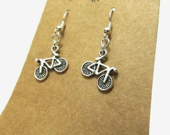 Bicycle Earrings, Cyclist Earrings, Bike Earrings, Bicycle Jewellery, Cyclist Gift, Sports Earrings, Olympics, Team GB