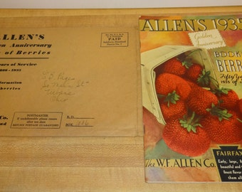 Vintage Allen's Golden Anniversary Book of Berries ,1935, Salisbury, Maryland