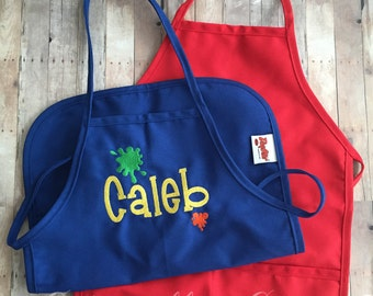Kids Art Smock - Kids Art Apron - Craft Apron - Craft Smock - Personalized kids Art Smock - School Art Smock - School Craft Apron