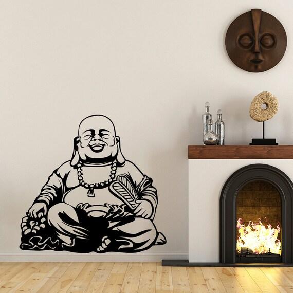 Buddha Vinyl Wall Decal fits interior walls and more many